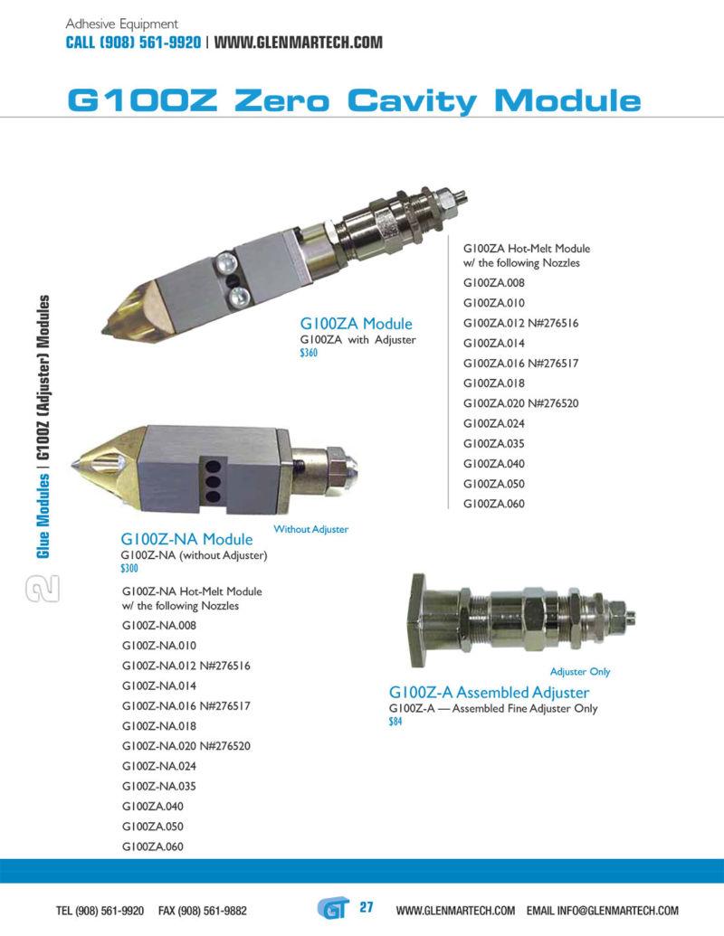 Module G100Z-A Assembled Adjuster - Nordson h200, h202, 276516, 276517, 276518, 276520